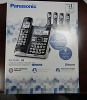 2017 Panasonic 5 Handset Cordless Phone Set Dect 6.0 Link2cell Kx-tg785sk