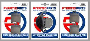 Front & Rear Brake Pads (3 Pairs) for Quadro D 350 13-15
