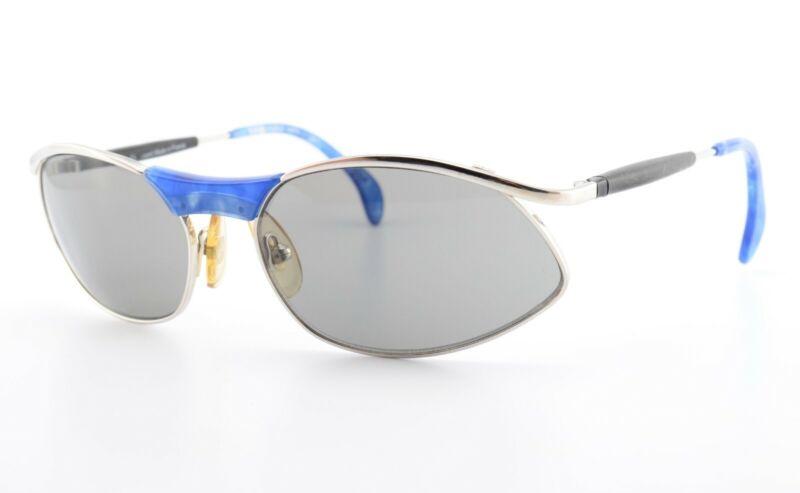 Alain Mikli Paris Sonnenbrille 3213 Col 10110 Blue Silver Sunglasses 1997 Size M