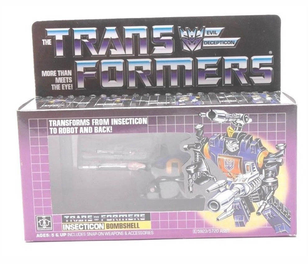 HOT Transformers Vintage G1 REISSUE Hasbro Decepticon Decepticon Decepticon Insecticon BOMBSHELL Boxed 970a3b