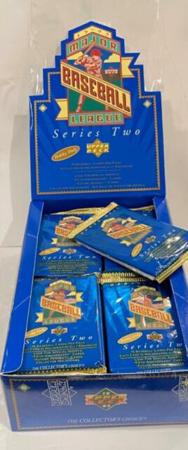 1993 Upper Deck Baseball   S2   One Unopened Pack From Factory Sealed Hobby Box