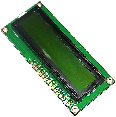 1602 Yellow-Green backlight 5V LCD Module Display Black Character 1602A Hot Sale