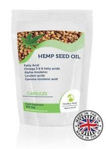 Hemp-Seed-Oil-300mg-Fatty-Acid-90-Capsules-Pills-Supplements