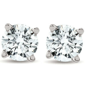 1-2ct-Round-Real-Diamond-Studs-White-Gold-Brilliant-Cut