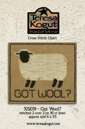 XS019 Sheep Teresa Kogut Counted Cross Stitch Chart Pattern Got Wool