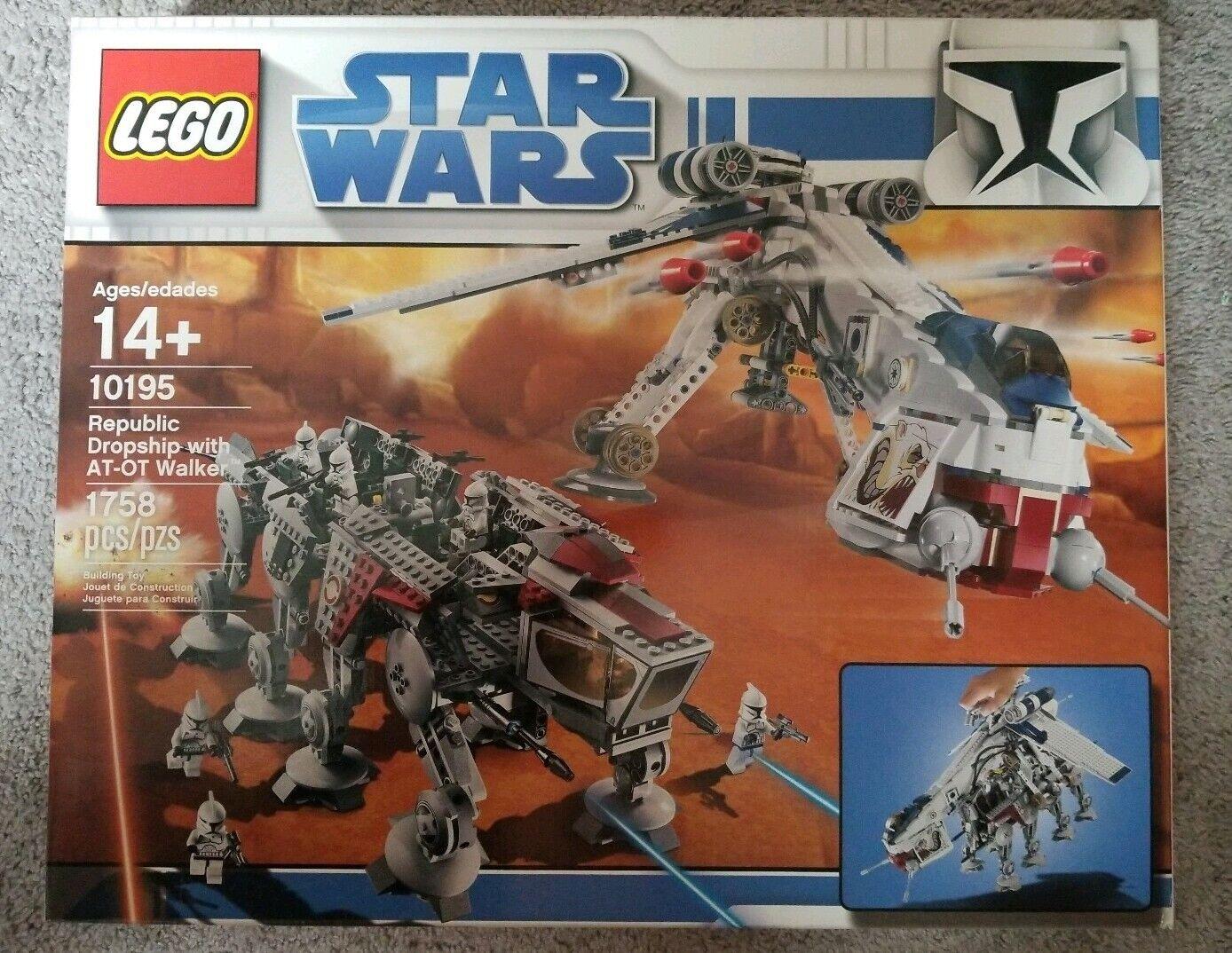 LEGO estrella guerras UCS Republic Dropship with AT-OT  Walker 10195  design semplice e generoso