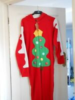 Mens Onesie Sleepsuit Or Fancy Dress Christmas Tree Size X Small Free P&p