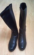 Winter Sale Women's Winter leather Boots with zippers in Black Sz 7.5