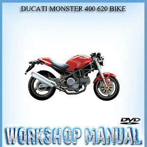 ducati monster 400 620 bike workshop repair service manual in disc rh ebay com au 2003 ducati monster 620 service manual pdf ducati monster 620 repair manual download