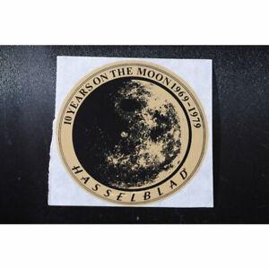 """Hasselblad Aufkleber """"10 Years on the Moon 1969 - 1979"""" - Sticker - Klebebild"""