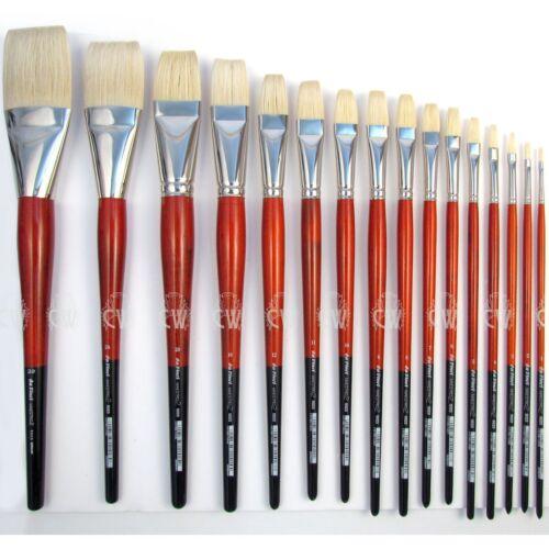 Artists Hog Bristle Single Brush. Da Vinci Maestro 2 Hog Brushes 5023 Long Flat