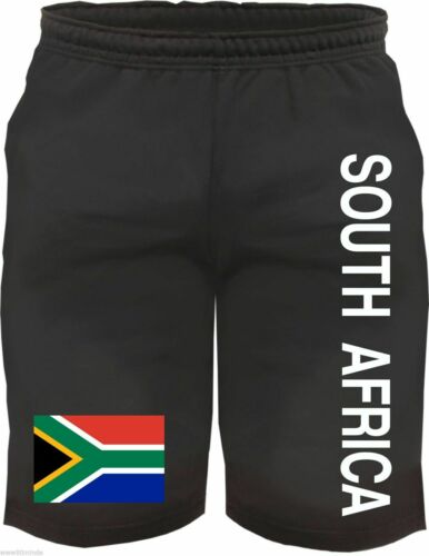 M- XXL South Africa Sweat Shorts with Flag Print South Africa Shorts