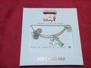 Disney Parks Alex /& And Ani Disney Dogs Silver Bracelet
