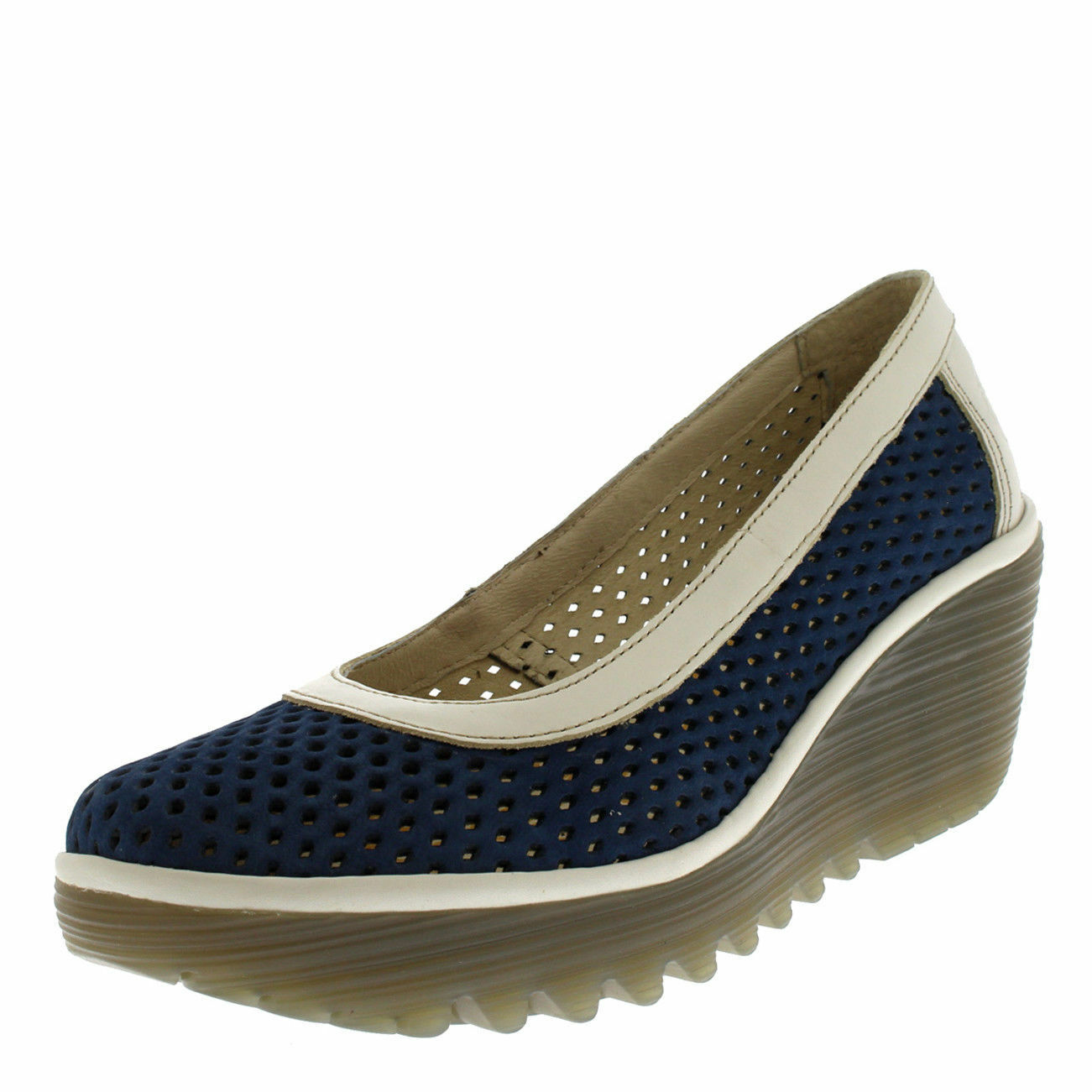 FLY LONDON UK YOBE842FLY LEATHER PLATFORM WEDGE Schuhe WEDGES UK LONDON 4 EUR 37 1b606f