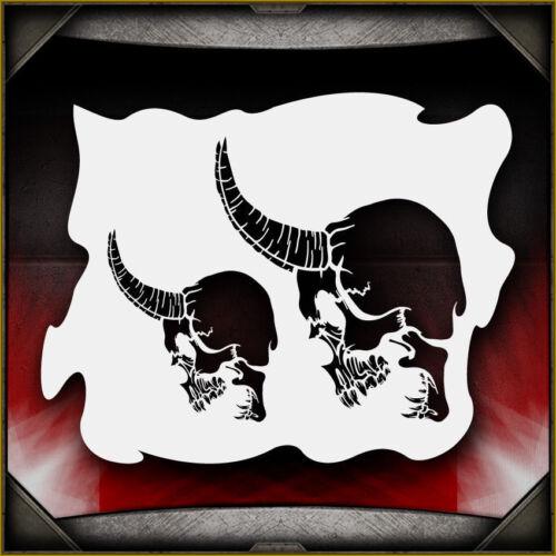 Skull 16 Airbrush Stencil Template Airsick