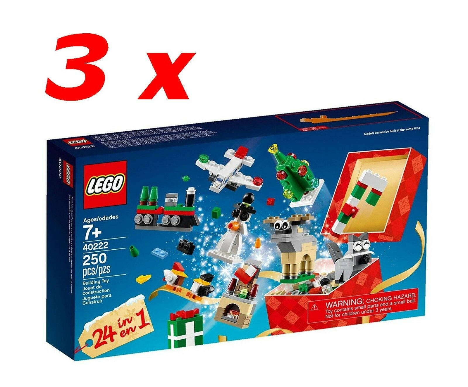 Lot Lego Christmas 40222 x 3 NEUFS