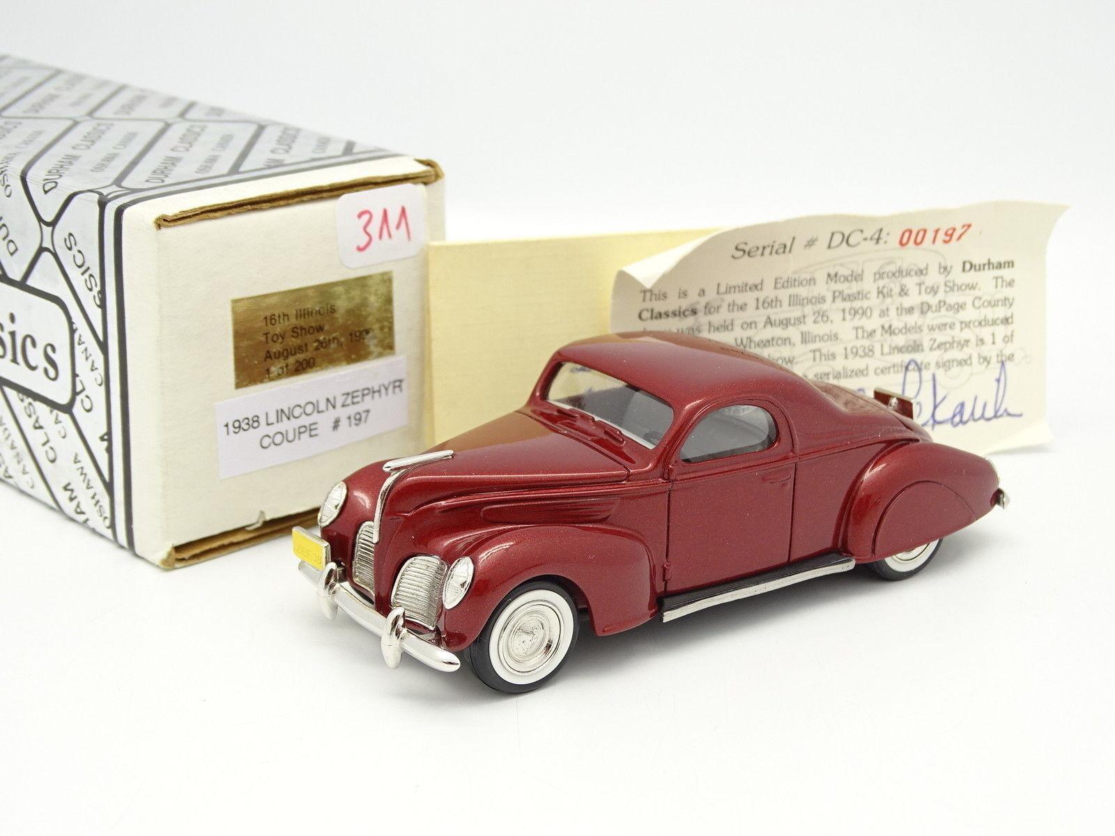 Durham Classics 1 43 - Lincoln Zephyr Coupé 1938 Illinois Toy Show 1990