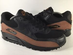 Details about Nike Air Max 90 Leather Black Rustic Brown 2007 Mens Size 11 Rare 302519-902