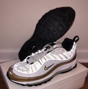 quality design b7497 7a6d0 Image is loading NIKE-AIR-MAX-98-UK-EXCLUSIVE-GOLD-AJ6302-