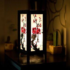 Afficher Japonais Lampe De Blossom Détails Chevet Pinceaux Del Table 54RL3Aj