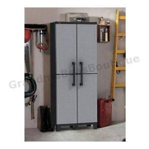 Storage Organizer Cabinet Tall Double 2 Door Utility Shelves Garage Heavy Duty Ebay
