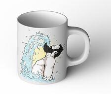 Beard Flip Tasse Cup Becher Fun Geschenk neu Bart Retro Vintage Urlaub Malle
