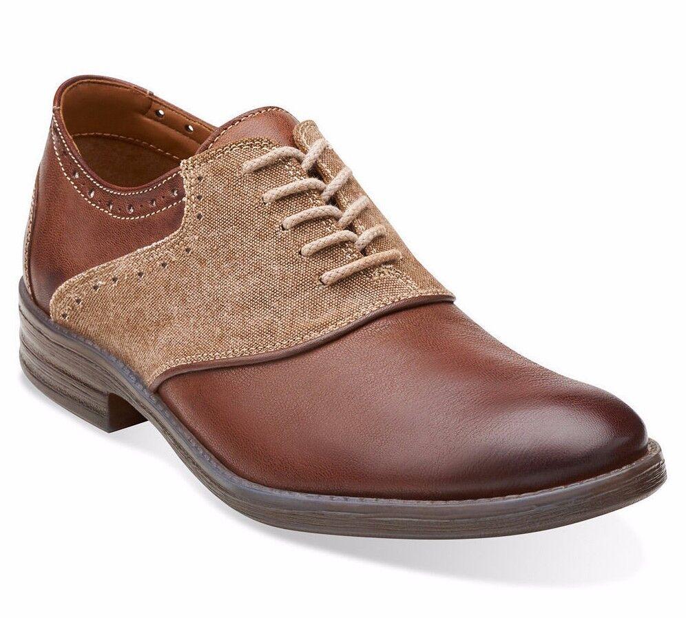 Clarks Delsin Ox Homme   De Loisirs Chaussures Marron Peigne Cuir Style   26106179