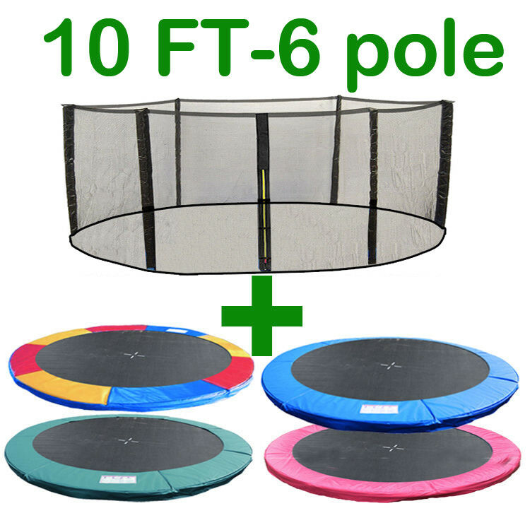 10 FT TRAMPOLINE REPLACEMENT SAFETY NET PADDING SPRING COVER PAD ENCLOSURE