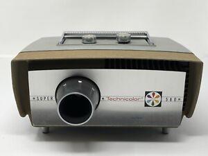 Vintage Technicolor 580 Movie Film Projector Super 8mm Not Tested PROP