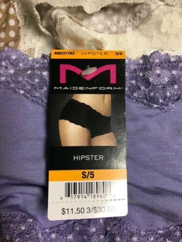 Maidenform Women/'s Panties Lace Hipsters $11 OFF Size 5 Retail $23.00