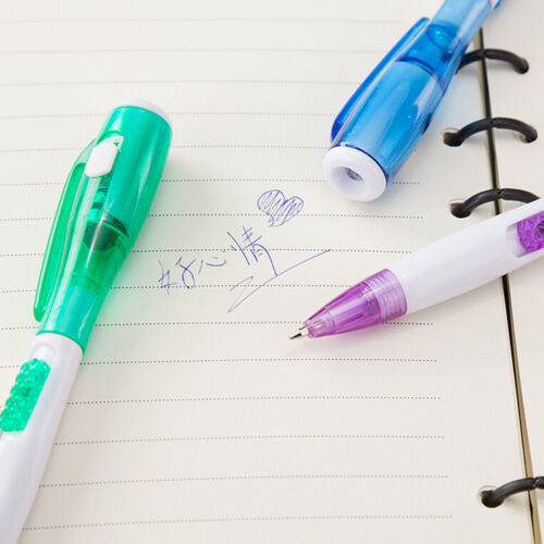 Hot Novelty Ballpoint Pen stationery LED lights Ballpoint pen School supplies HG