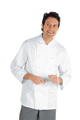 Men's Clothing Clothing, Shoes & Accessories Hard-Working Chaqueta De Cocinero Isacco Livorno 100% AlgodÓn En Blanco T Xs 3 3xl Fine Workmanship