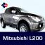 Mitsubishi-L200-protectores-de-puerta-del-frotamiento-Tiras-Proteccion-Lateral-Molduras-Kit miniatura 3