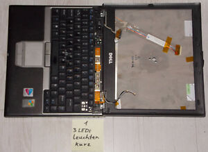 Marque De Tendance Ordinateur Portable Dell Latitude D410 Pentium M Incomplet Défaut Sur Bastler-afficher Le Titre D'origine Ni Trop Dur Ni Trop Mou