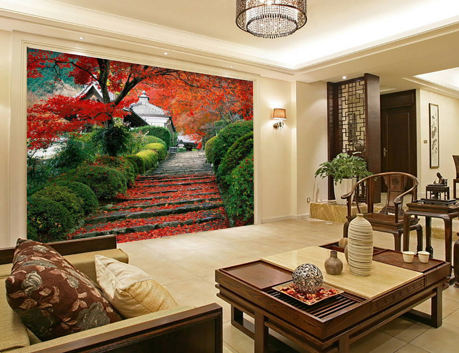 3D Maple Tree 455 Wallpaper Murals Wall Print Wallpaper Mural AJ WALL UK Summer