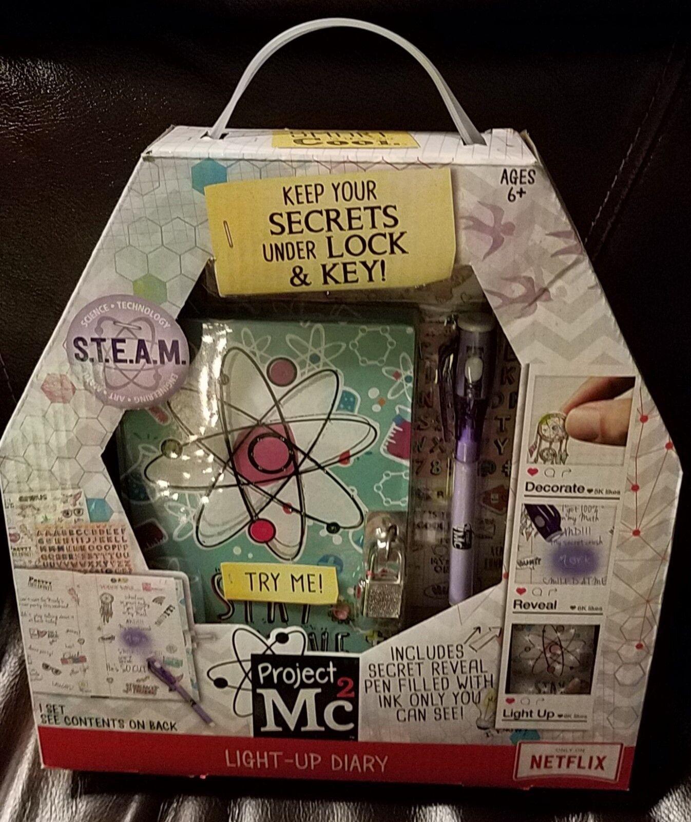 S.T.E.A.M 2X Project MC2 Light Up Diary /& Secret Invisible Ink NIB On Netflix