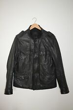 *AWESOME SAUCE* AllSaints Mens Seville Leather Military Jacket EXTRA LARGE XL