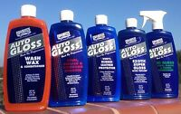 Profesional Car Care Products Wax Wash Conditioner Vinyl Leather Plastic-5 Types