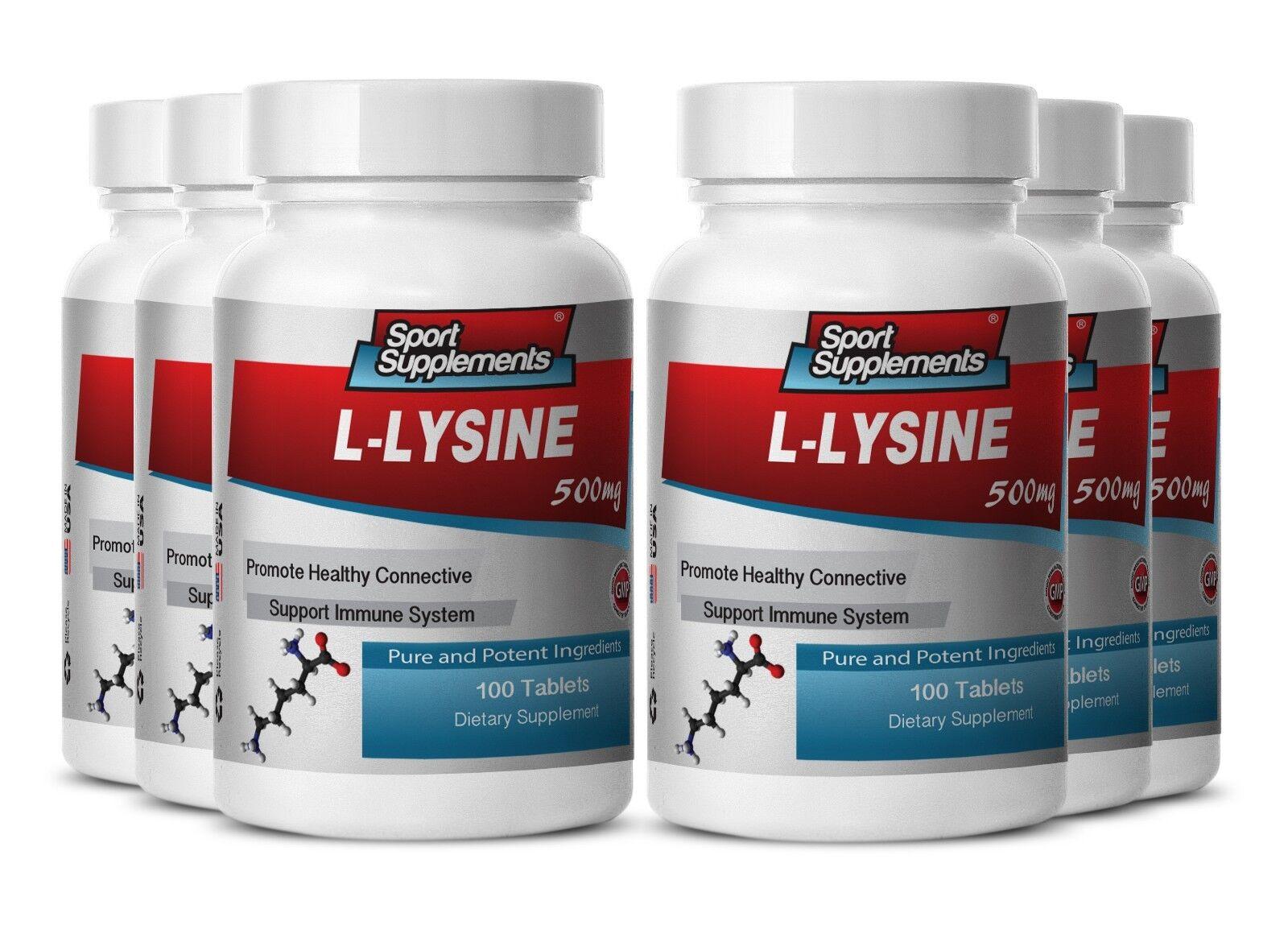 L-Lysine Tablet - - L-Lysine 500mg - - Supreme Weight Loss Supplements 6B 346761