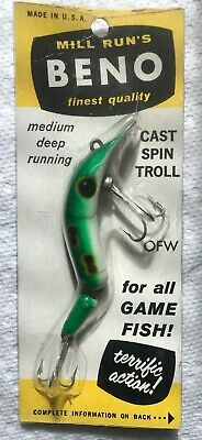 """Vintage   BENO    Lure Jointed  3-1//4""""       Frog"""