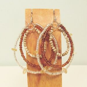 2-034-Triple-Hoop-Multi-Color-Bohemian-Fashion-Handmade-Seed-Bead-Earring