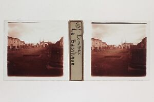 Pompei Italia Placca N7 Lente Stereo Vintage 1935