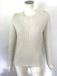 Cream L hals Beige ronde Cashmere sweater Akris White sweater 40 Cashmere PkZXiOu