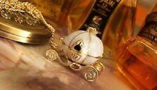 Vintage Disney Queen's Calabaza Carruaje Cenicienta Colgante Collar Regalo