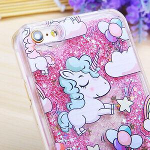 Dynamic-Quicksand-Glitter-Liquid-Unicorn-Hard-PC-Case-Cover-For-iPhone-Samsung