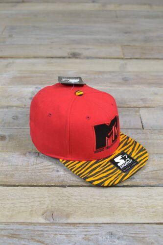 Neu mit Etikett Mtv Vorgericht Schwarze Beschriftung Baseball Kappe Snapback Rot