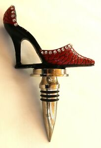 Details About Wild Eye Designs Fashion Red Crystal Studded High Heel Shoe Wine Stopper
