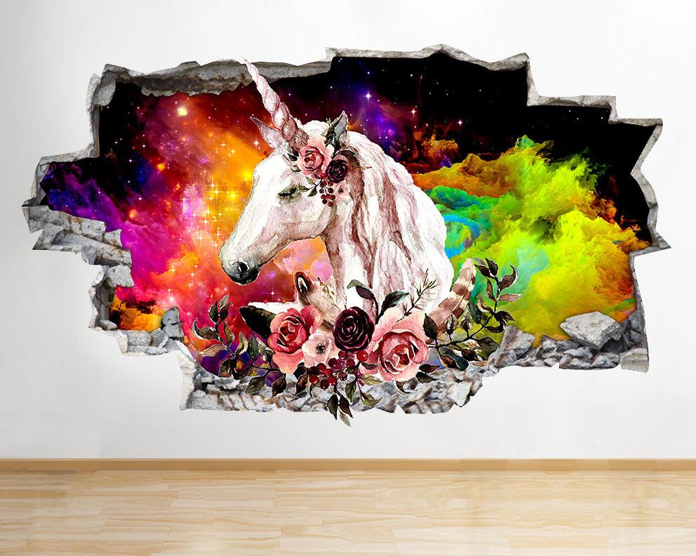 J303 magico Unicorno ragazze di Couleuri  adesivo da parete camera bambini