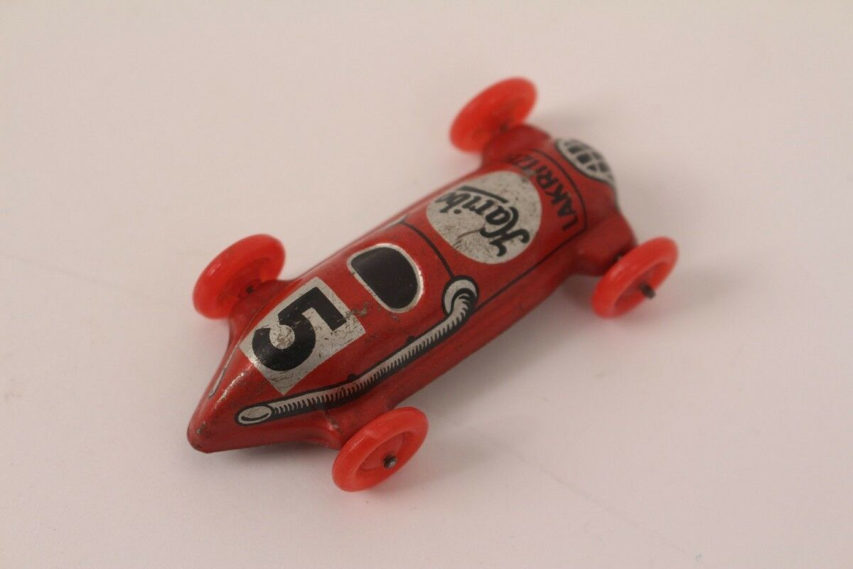 Race Car No. 5 Tin Car Tin Toy Penny Toy without Drive Haribo Liquorice