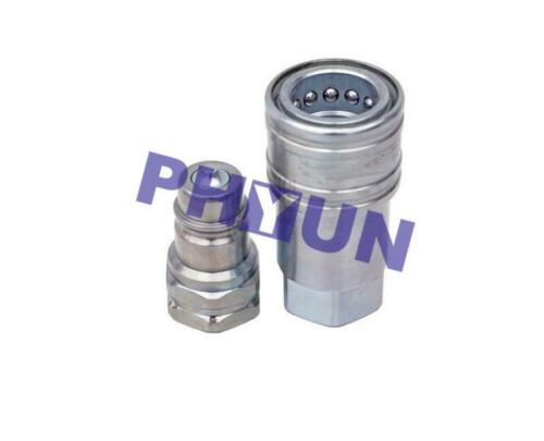 1//2/'/' Ag Hydraulic Quick Connect Couplers Coupling Poppet Valve w//Dust Cap 2 Set